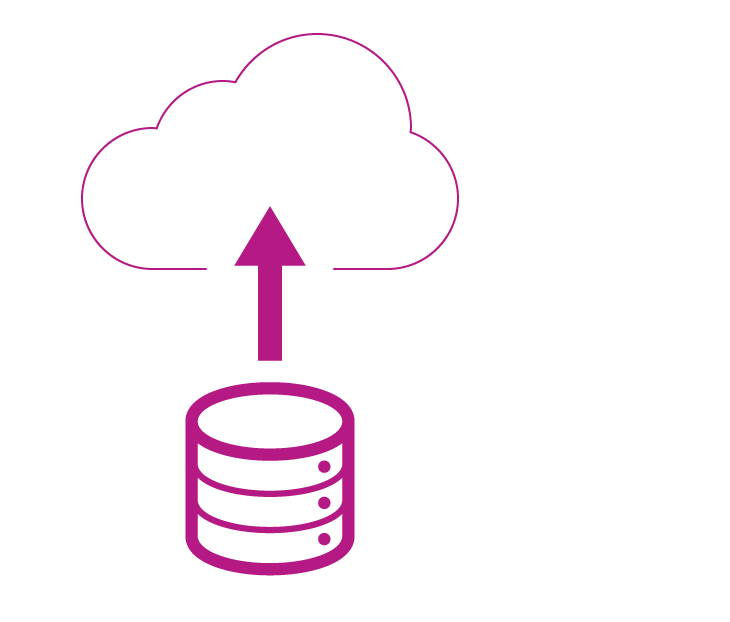 Icon Datenmigration in die Cloud