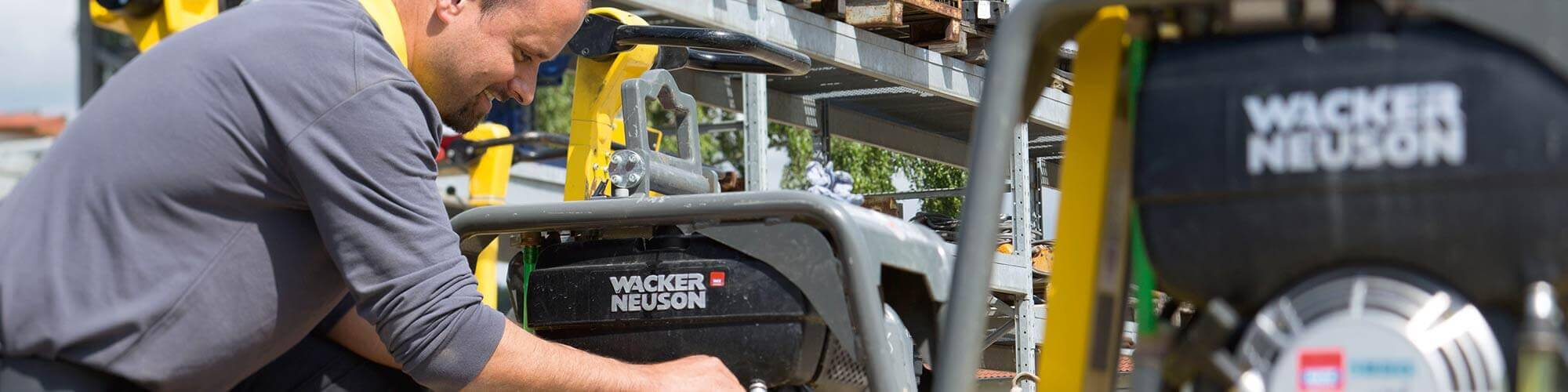 Keyvisual SAP Hybris Commerce bei Wacker Neuson